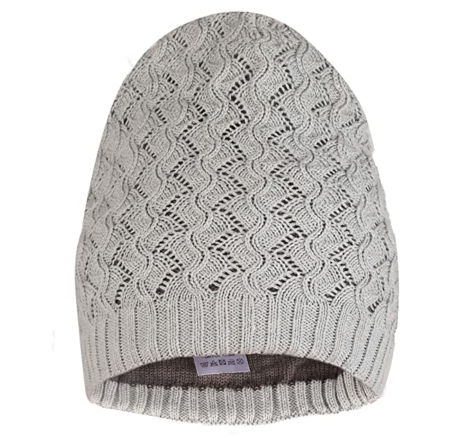 2f1451e8158 FabSeasons Unisex Grey Color Acrylic Woolen Slouchy Beanie and Skull ...