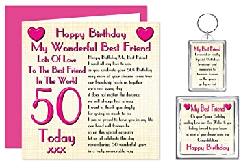 Best Friend 50th Happy Birthday Gift Set