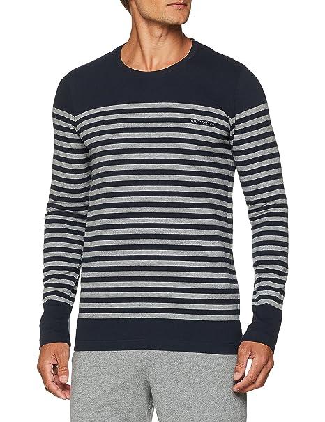 Marc OPolo Mix M-Shirt LS Crew-Neck, Camiseta de Pijama para ...