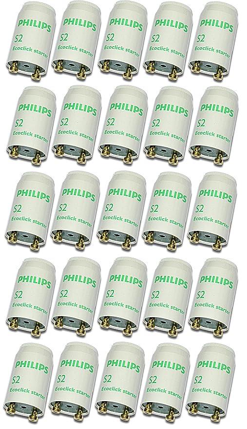 Philips Starter S2 Ecoclick Starter für Leuchtstoffröhren von 4-22 Watt