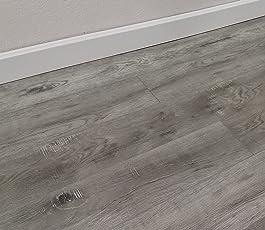 Turtle Bay Floors Waterproof Click WPC Flooring   Rustic Sawn Hardwood Look  Floating Floor