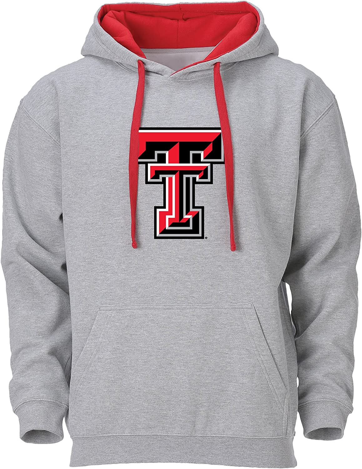 Ouray Sportswear NCAA Benchmark Colorblock Pullover Hood Texas Tech Red Raiders Small Oxford//Red Logo