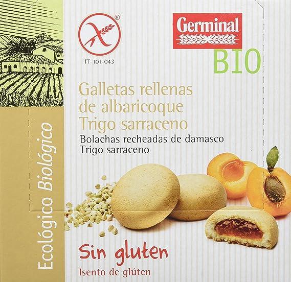 Galletas de trigo sarraceno rellenas de albaricoque bio sin ...
