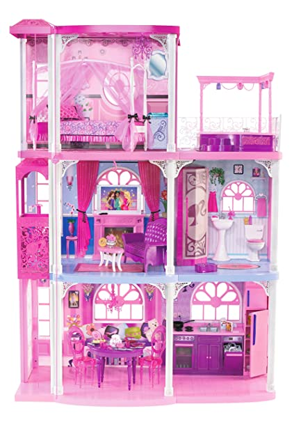 Amazoncom Barbie Pink 3 Story Dream Townhouse Toys Games