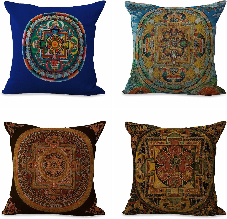 cushion cover Tibetan Buddhism mandala pillow covers decorative