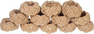 Alpha Living Home Nautical Napkin Rings Set of 12, Woven Napkin Holders, Coastal Napkin Rings Bulk for Party Decoration, Dinning Table, Everyday, Family Gatherings - A Great Tabletop Décor - Natural