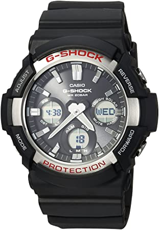 Casio Mens GAS-100-1ACR G Shock Analog-Digital Display Quartz Black Watch