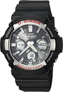 Casio G SHOCK Quartz Watch with Resin Strap, Black, 28 (Model: GAS100-1A)