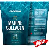Premium MARINE Collagen Powder - Wild Caught Fish from North Atlantic (Not Farmed) Protein & Collagen Peptides for Skin, Hair, Nails, Joints & Bones & Digestive Health. Paleo Friendly - Hydrolyzed, (Unflavoured, 141.7g)