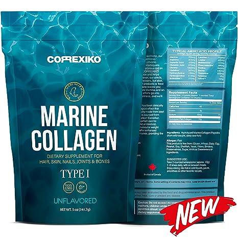 Péptidos Colágeno Marino de Peces Salvajes del Atlántico Norte (No de Acuicultura) – Proteína