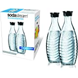 SodaStream 1047200490 Twinpack Glass Carafe 2 x 0.6 l Matching Water Carbonators Penguin and Crystal
