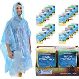 Wealers Poncho One Size Fit Most with Hood 20 Per Pack Assorted Colors