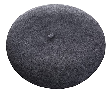 e1a5517e163 VGLOOK Children Unisex Winter Wool Warm Beret Beanie Hat Cap for Kids (Dark  Grey)(Size  One Size)  Amazon.co.uk  Clothing