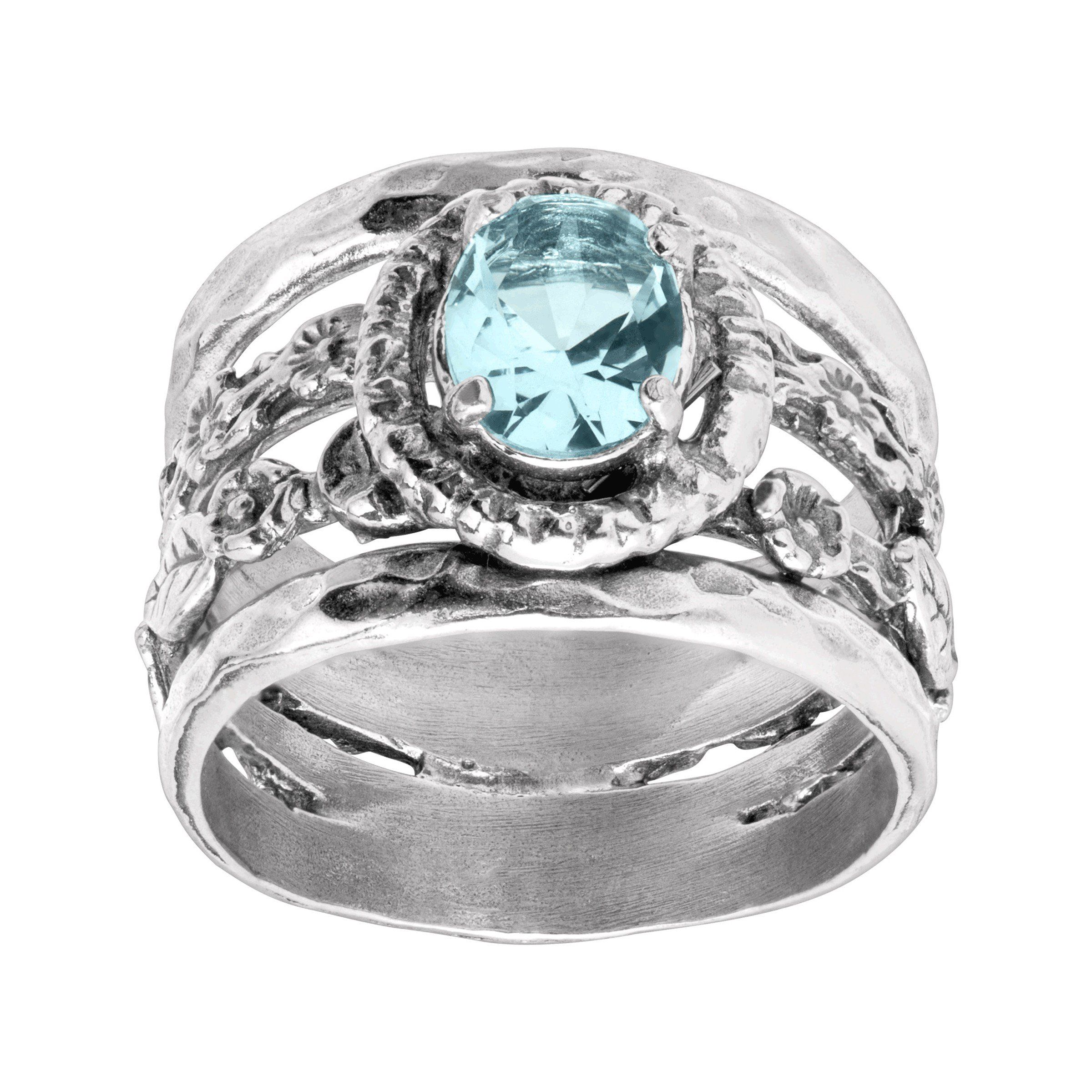 Silpada 'Best Buds' 1 1/2 ct Blue Cubic Zirconia Ring in Sterling Silver