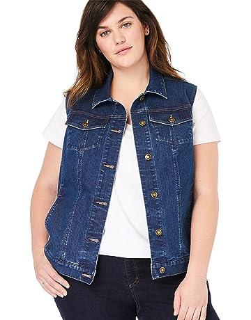 c87e41c76fb15e Woman Within Women's Plus Size Stretch Denim Vest