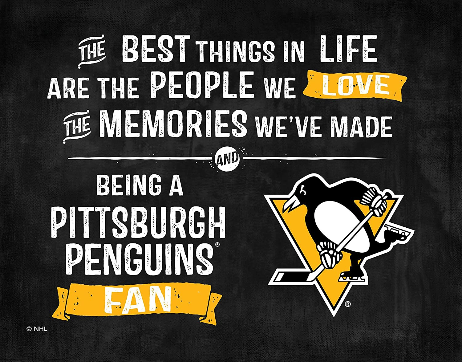 KH Sports Fan 1012102661 9.75x7.75 Pittsburgh Penguins Best Things Acrylic NHL Art Plaque