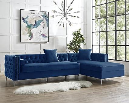 Amazon Com Inspired Home Giovanni Collection Velvet Modern Button