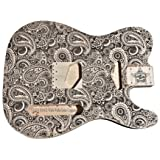 Telecaster Electric Guitar Body UNFINISHED Laser Etched Designs (Paisley, Basswood)