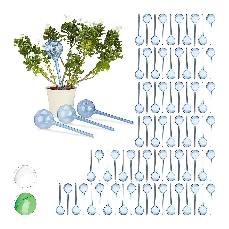 spedizione gratuita Relaxdays Set 80x Sfere per irrigazione, dosatori d'Acqua per per per Piante da Vaso, Ornamentali, Durata 2 Settimane, in plastica, Blu  vendite online