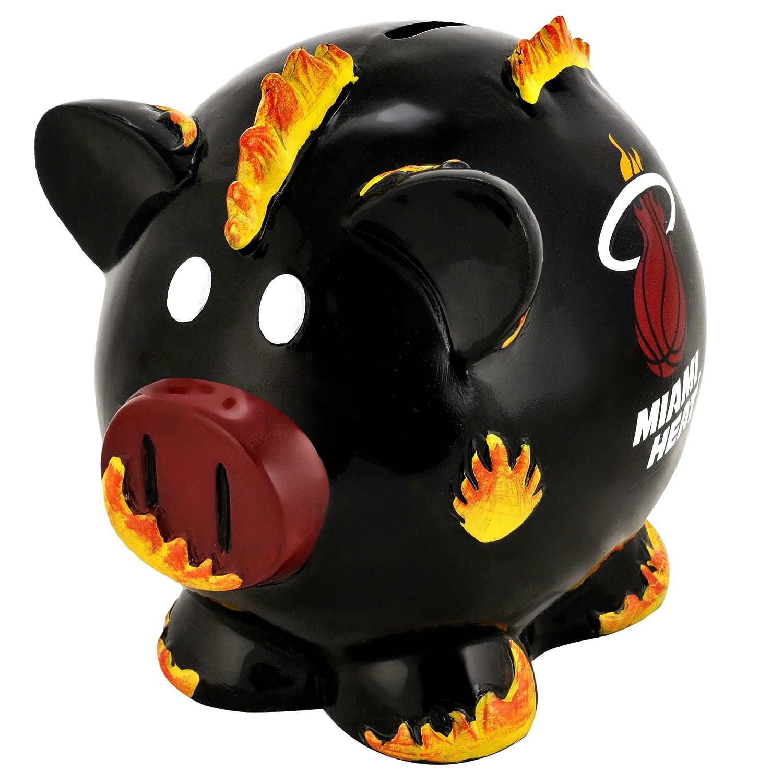 Team Beans Miami Heat Large Resin Thematic Piggy Bank   B0075K06HU