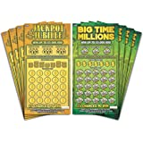 Larkmo Prank Gag Fake Lottery Tickets - 8 Total Tickets, 4 of Each Winning Ticket Design, These Scratch Off Cards Look…