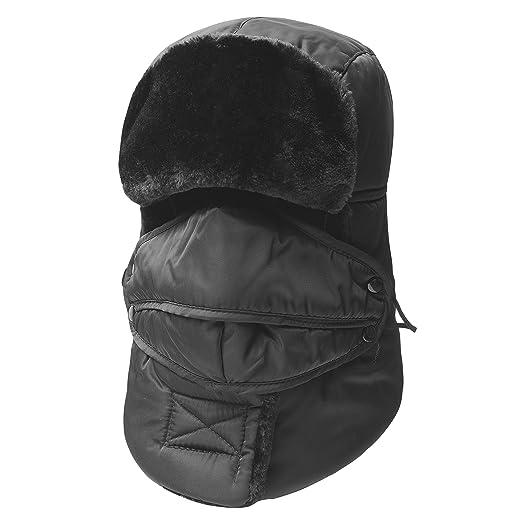31584f7a427 KOOLSOLY Winter Warm Unisex Winter Trooper Hunting Hat Trapper Hats with  Ushanka Russian Ear Flap Chin