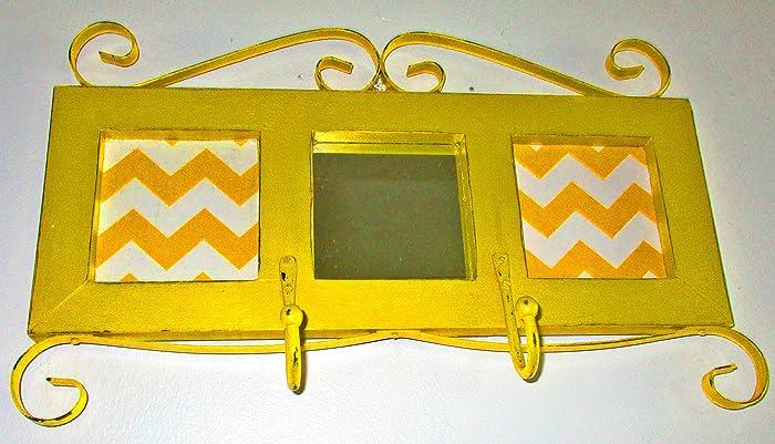 Amazon.com: Wall Mirror and Hooks, Marigold Yellow, Wall Decor ...