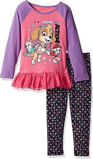 Nickelodeon Girls Shimmer and Shine 2 Piece Legging Set Pants Set