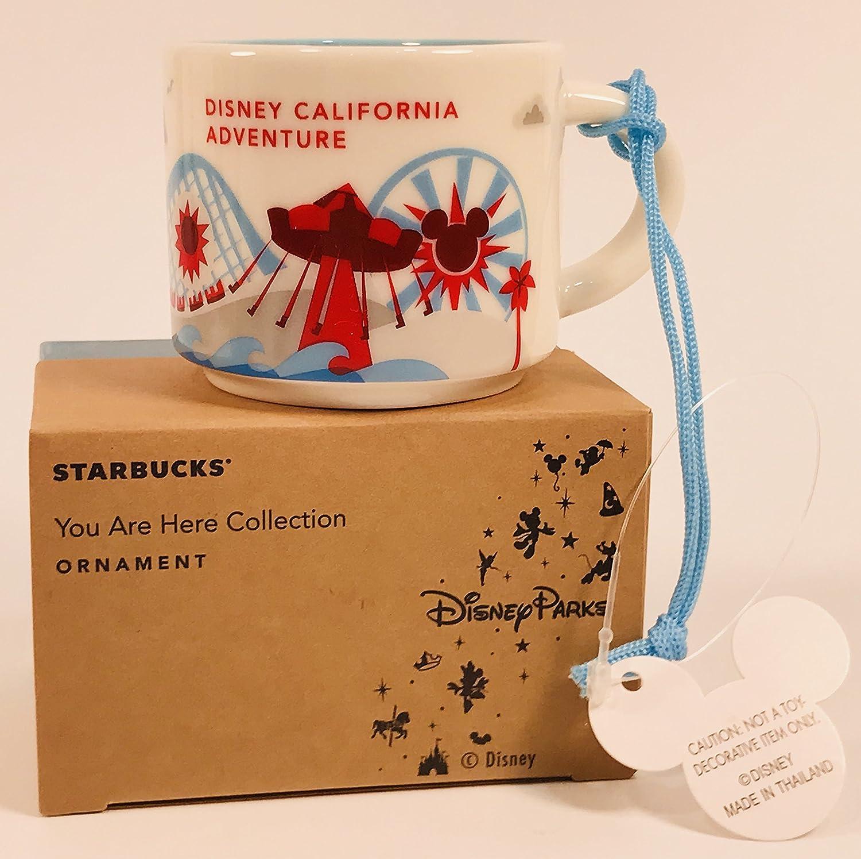Disney Parks California Adventure You Are Here Starbucks 2 Oz Mug Demitasse Ornament