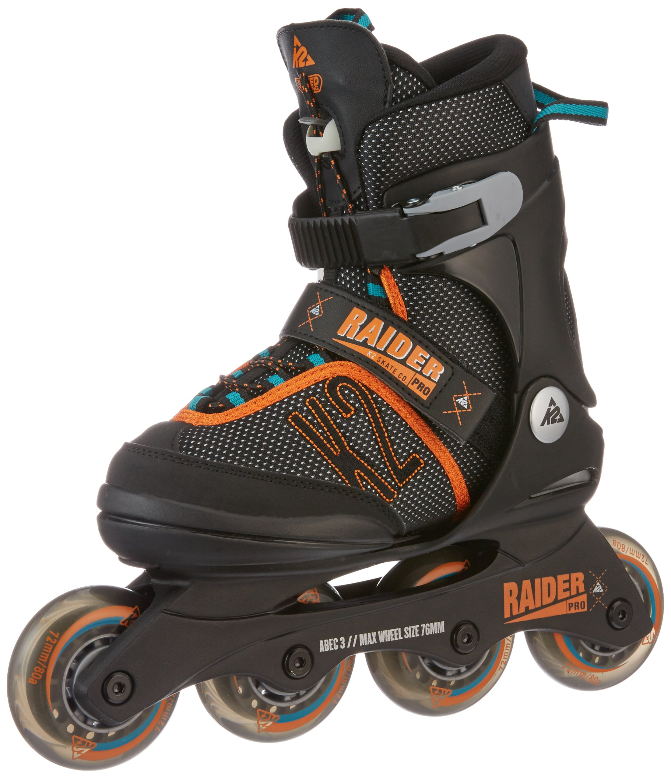 K2 Skate Boy's Raider Pro Pack Inline Skates, Black/Orange, 41945 by K2 Skate
