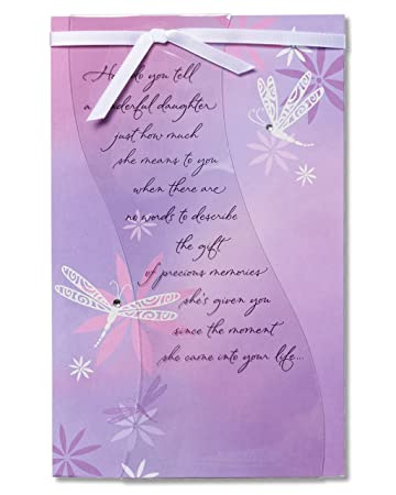 Amazon american greetings sentimental birthday card for american greetings sentimental birthday card for daughter with glitter m4hsunfo