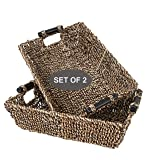 Set of 2 Seagrass Wicker Baskets for