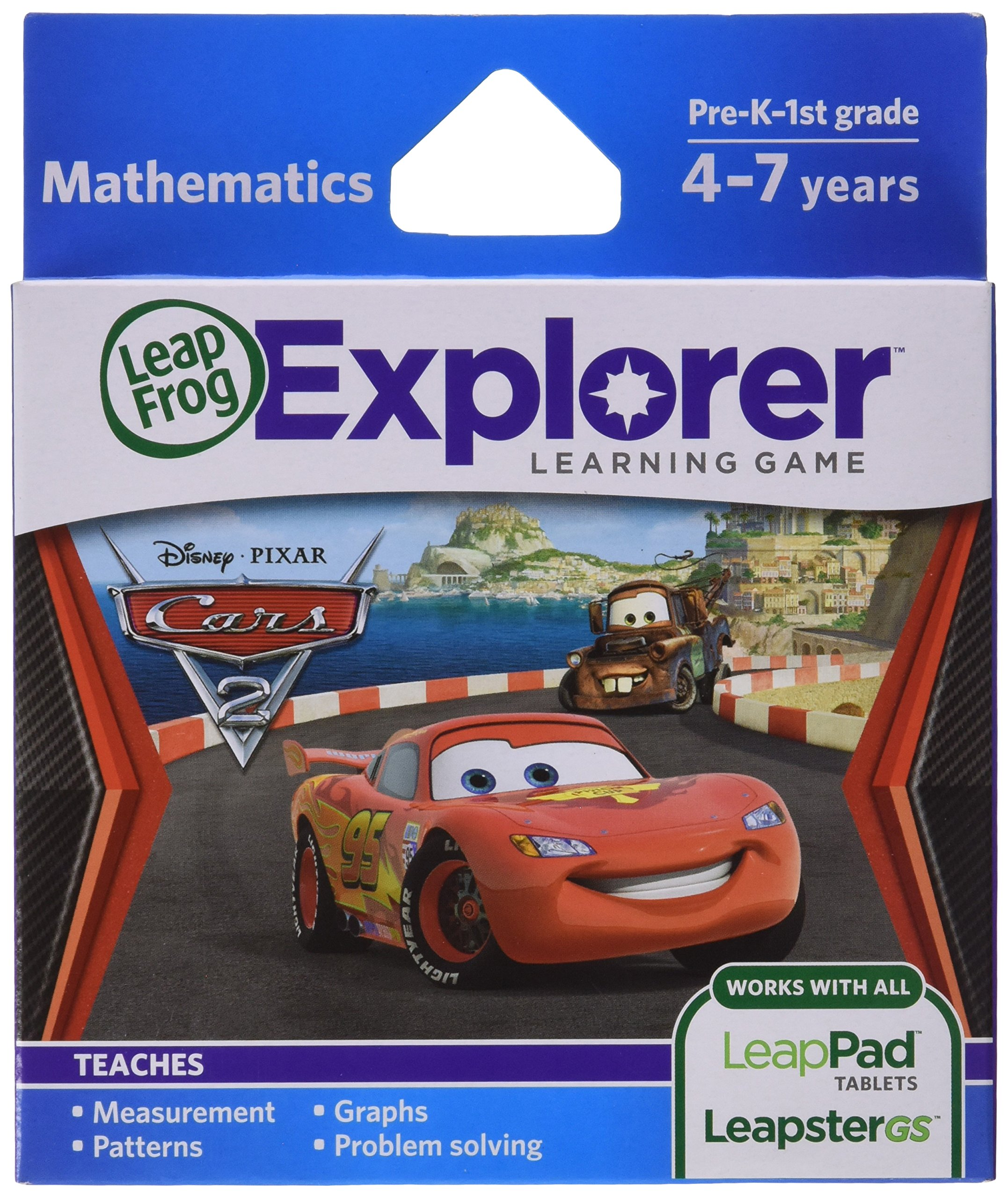 LeapFrog Learning Game Disney-Pixar Cars 2 (works with LeapPad Tablets, Leapster GS and Leapster Explorer) by LeapFrog