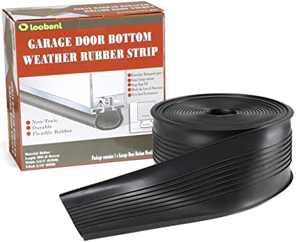 Loobani Garage Door Bottom Weather Stripping Rubber Seal Strip