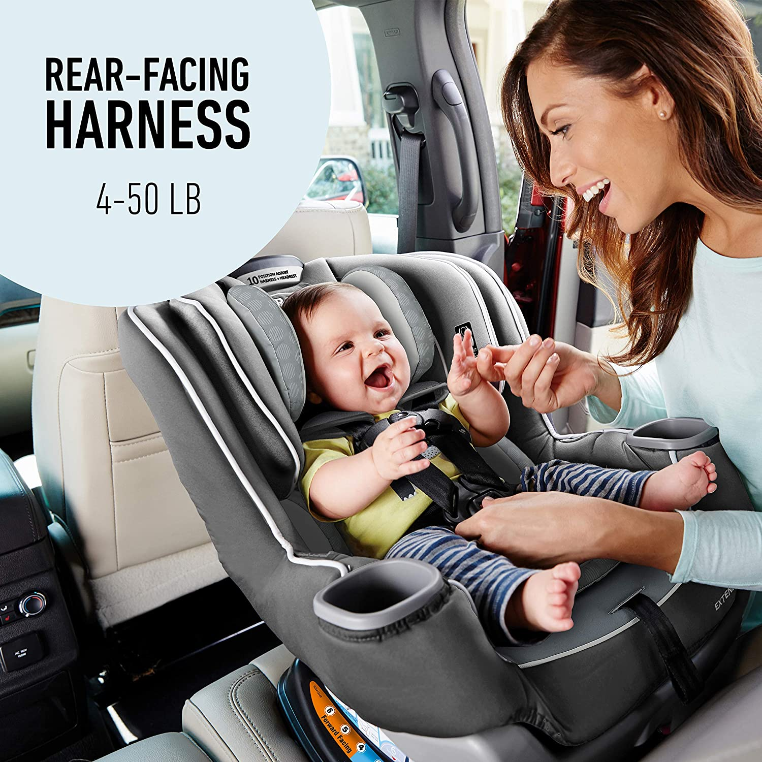 Graco Extend2Fit Convertible Car Seat   Ride Rear Facing Longer with Extend2Fit, Binx