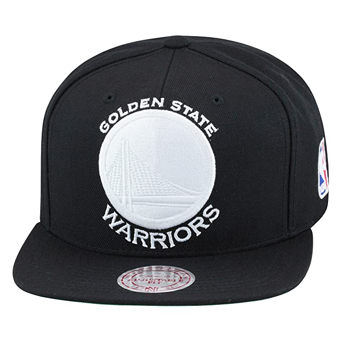 fd709ef18 Mitchell & Ness Golden State Warriors Snapback Hat Cap All Black/WHITE