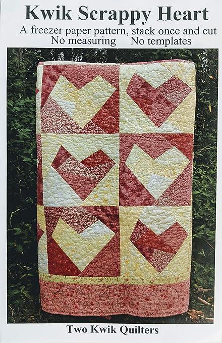 Amazon Two Kwik Quilters Kwik Scrappy Heart Quilt Pattern Interesting Heart Quilt Pattern