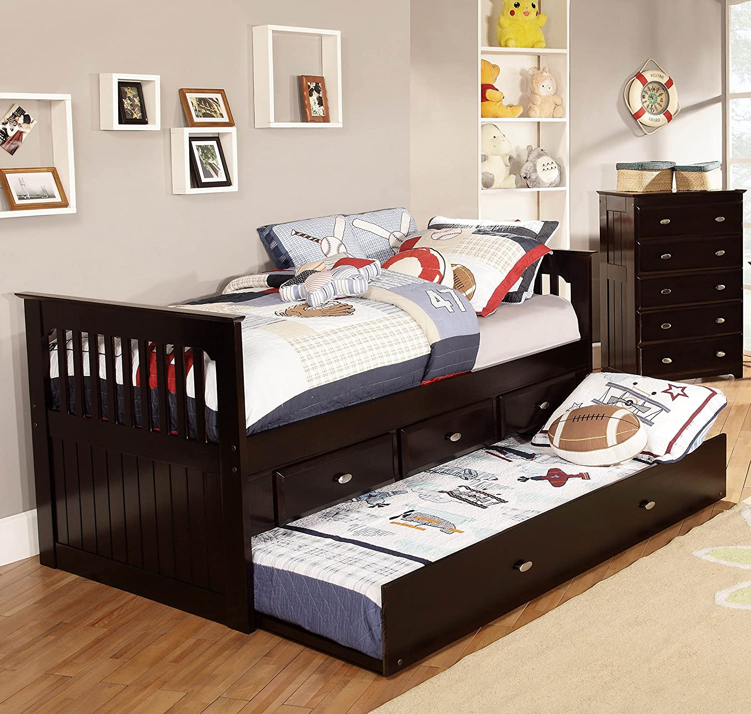 Amazon.com: American Furniture Classics 2935 TRE Rake Bed, Twin: Kitchen U0026  Dining