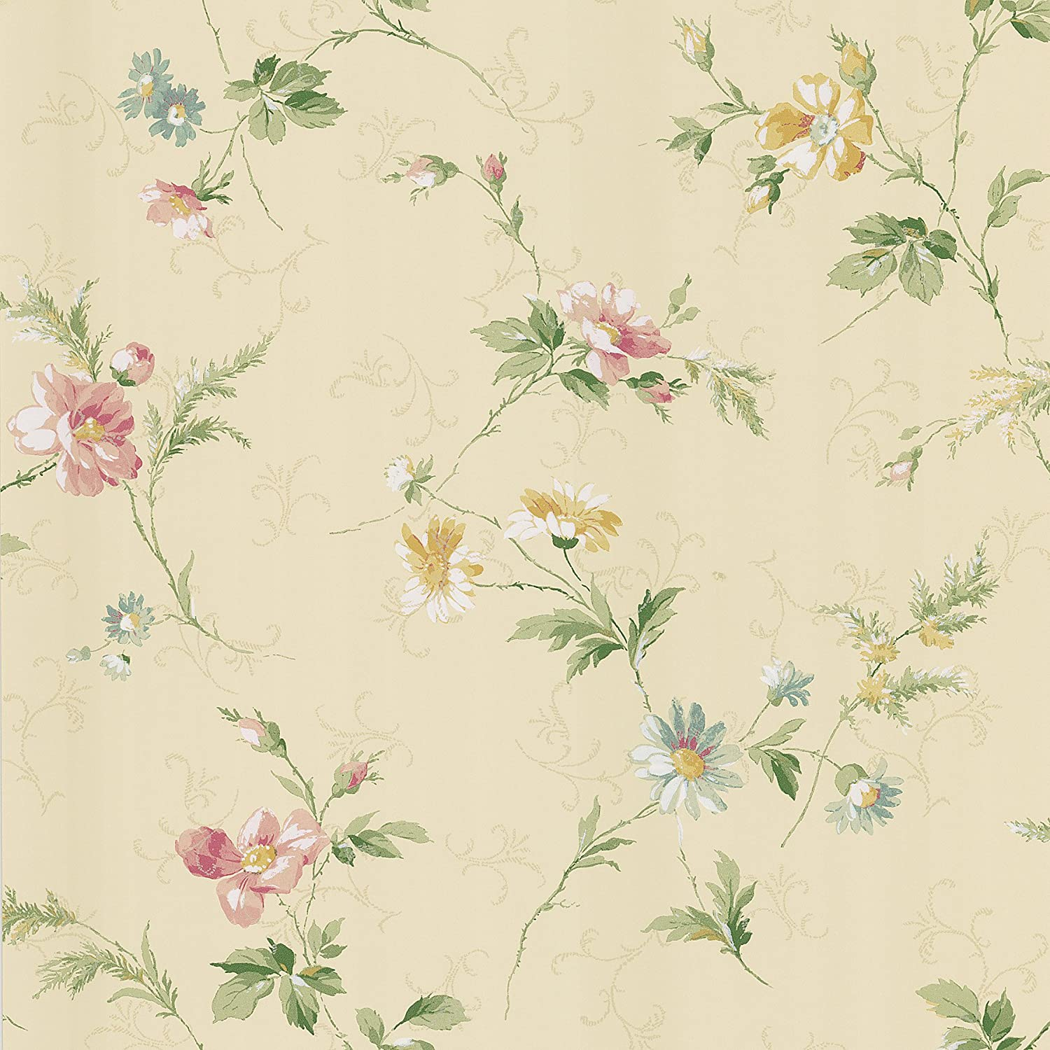 Brewster Kd71303 Fairwinds Studios English Style Floral Scroll