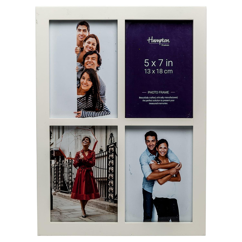 Hampton Frames gal457wht Galerie weiß 4Blende 5x 7(13x 18cm) Multi Foto MDF Bilderrahmen Display Rahmen mit 22mm breitem Profil und 10mm breit zwischen Profile.