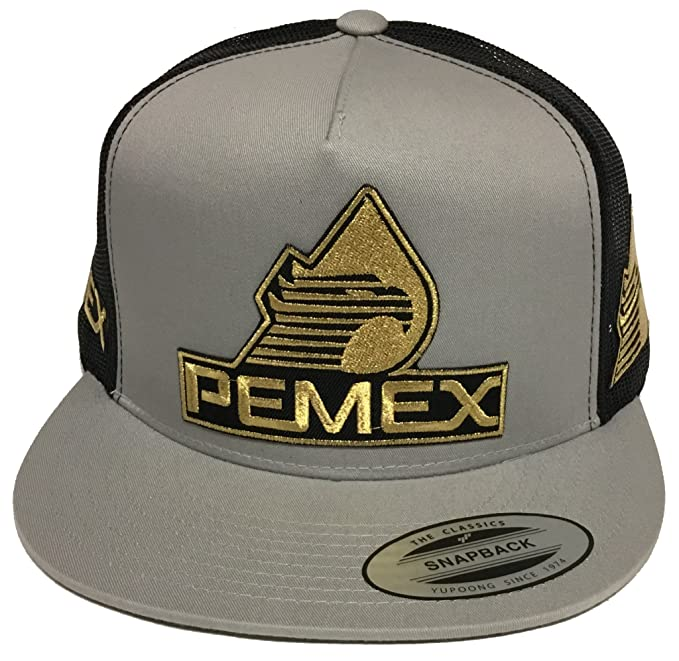 Pemex 3 Logos Hat silver Black Mesh Trucker  Amazon.ca  Clothing    Accessories d210ad83eb8