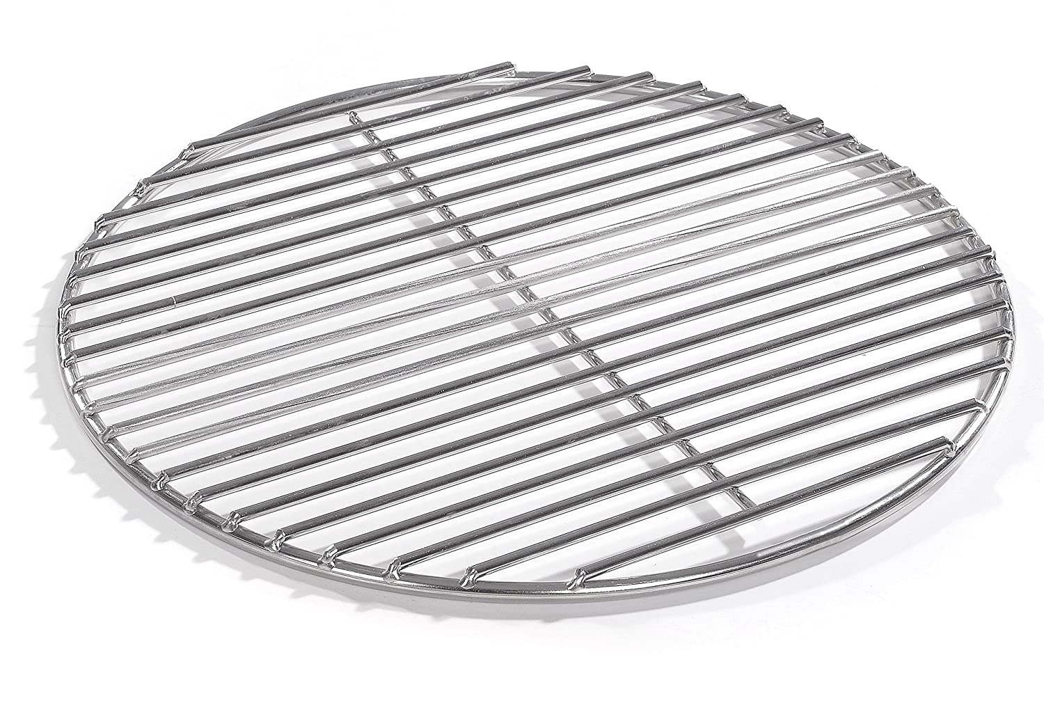 40 cm Round Stainless Steel Kettle Grill, 4 mm V2 A Stainless Steel Cooking Grate for Fire Bowl BBQ Trays Round Grill Grilltante