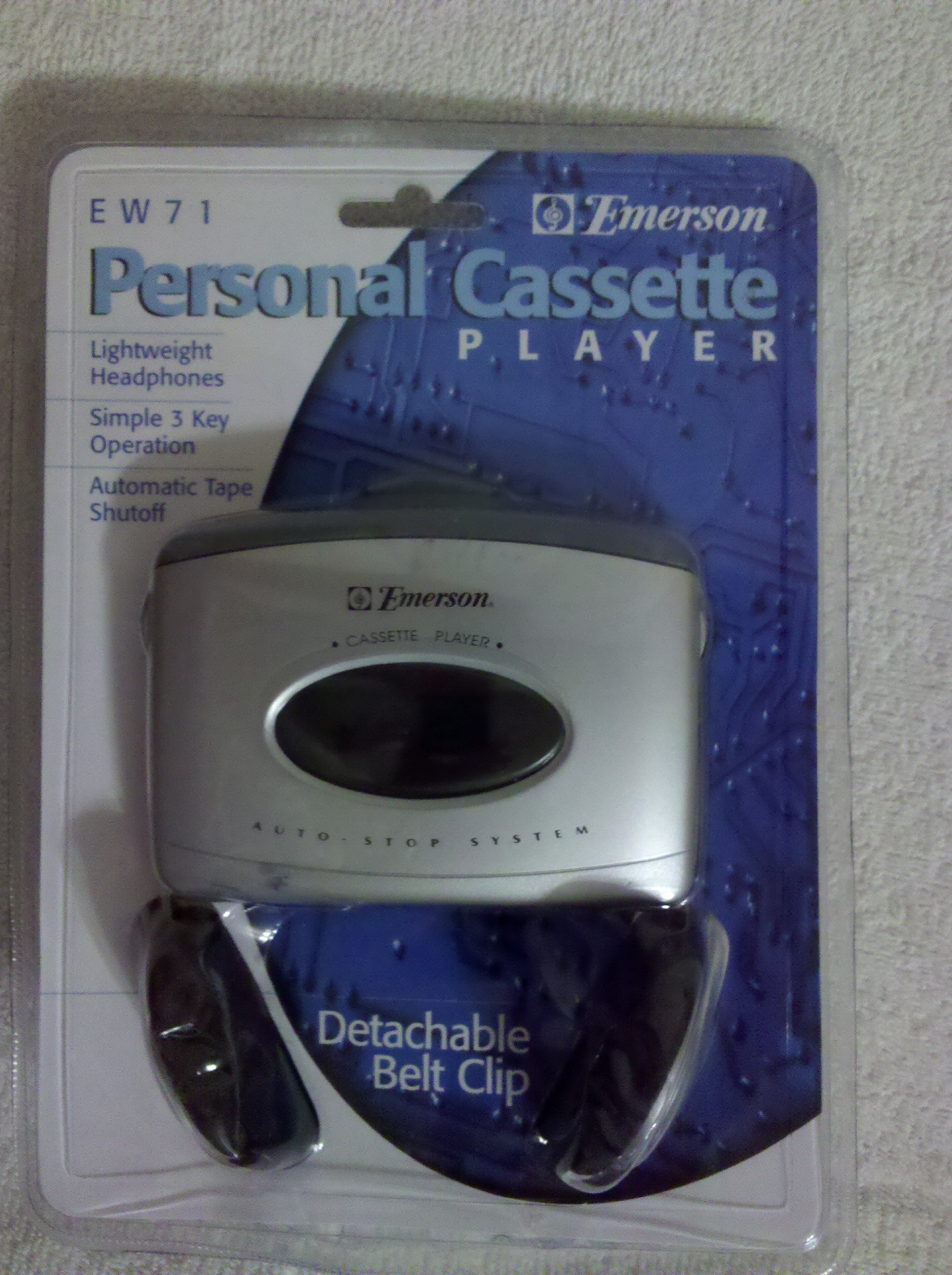 Emerson Personal Cassette Player Ew71