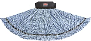 Rubbermaid Commercial 1924786 Maximizer Mop Head, Blend, Large, Blue