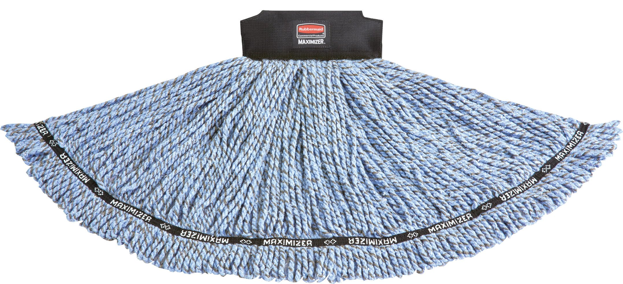 Rubbermaid Commercial 1924803 Maximizer Mop Head, Shrinkless Blend, Medium, Blue
