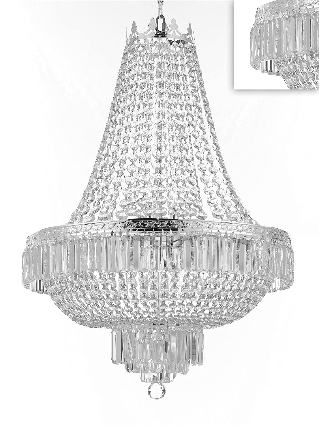 French Empire Crystal Chandelier Lighting Great For The
