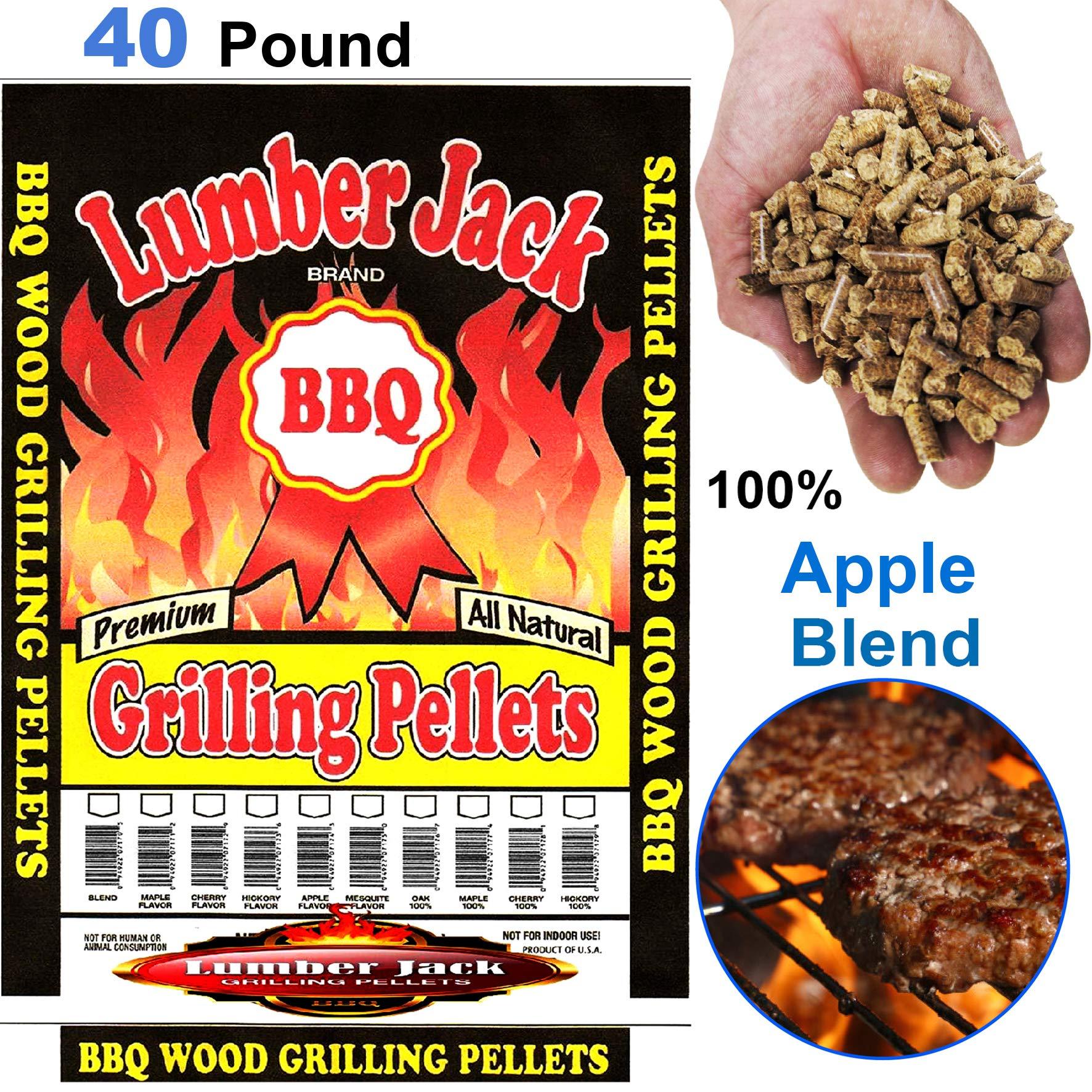 Lumber Jack LJACK40-Apple-Blend Smoking BBQ Grilling Wood Smoker Pellets - Full of Flavor, 40Lbs by Lumber Jack