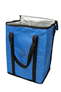 Insulated Reusable Premium Freezer Tote Bag- keeps your food cold or hot with Reinforced Carrying Handles by CarryWell