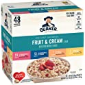 48-Count Quaker Instant Oatmeal Fruit and Cream Variety Pack