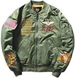Justyourstyle Men's MA-1 Bomber Flight Jackets Army Pilot Air Force Jacket Coat